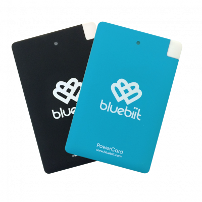Akupank Bluebiit PowerCard 2x2500mAh Portable Black,Blue (microUSB + Lightning adapter) komplekt must ja sinine