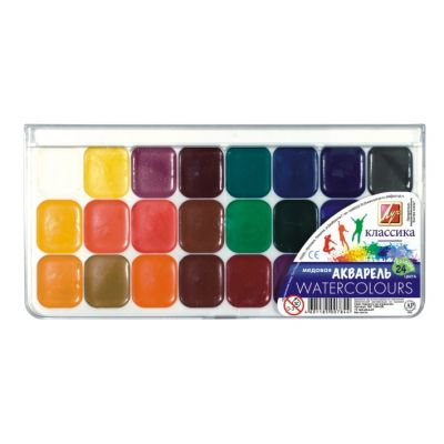Akvarellvärvid 24 värvi plastkarbis, Luch