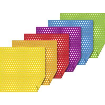 Origami paber 10x10 cm 6värvi x11lehte pakis Täpid, 70g/m2, Heyda