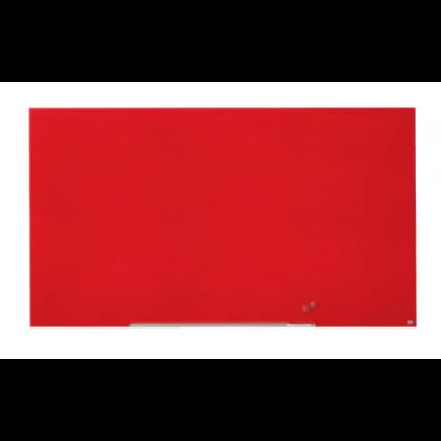 "Klaastahvel NOBO Diamond Magnetic Widescreen Glass Red 85"" 1900x1000mm punane, kaasas marker, 2 klaastahvlimagnetit"