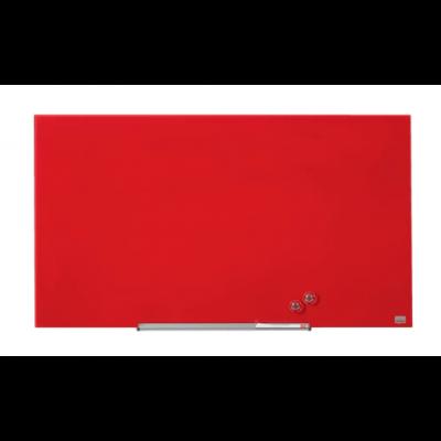 "Klaastahvel NOBO Diamond Magnetic Widescreen Glass Red 45"" 1000x560mm punane, kaasas marker, 2 klaastahvlimagnetit"