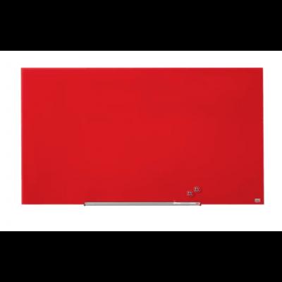 "Klaastahvel NOBO Impression Pro Widescreen Glass Red 57"" 1260x710mm punane, kaasas marker, 2 klaastahvlimagnetit"