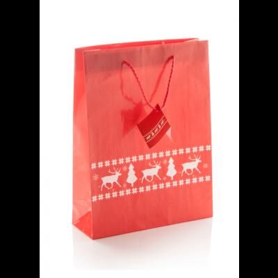 Pilpala L Jõulu kinkekott paberist 260×120×330 mm punane