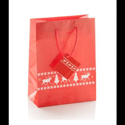 Pilpala M Jõulu kinkekott paberist 200×100×180 mm punane
