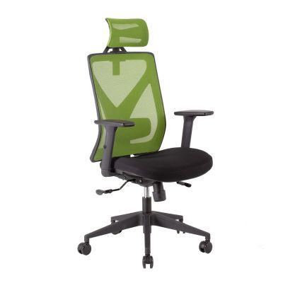 Töötool MIKE 14512 peatoega, roheline võrkseljatugi, reg. käetoed/max 120kg/must kangas +must plastik