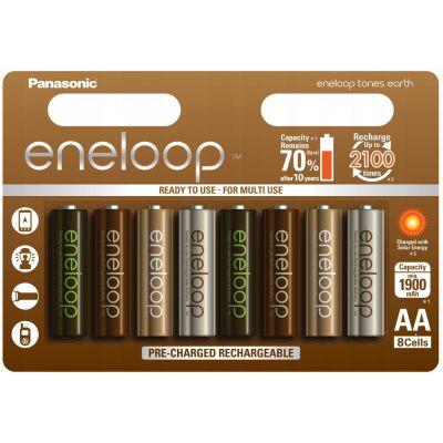 Akupatareid Panasonic eneloop Earth AA 1900mAh NiMH 1,2V 8 akut pakis