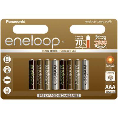 Akupatareid Panasonic eneloop Earth AAA 750mAh NiMH 1,2V 8 akut pakis