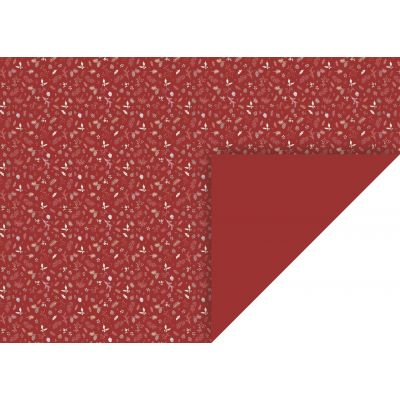 Käsitöökartong 50x70cm 300g  Oks/Leht punane, Heyda