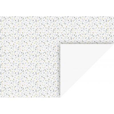 Käsitöökartong 50x70cm 300g  Oks/Leht valge, Heyda