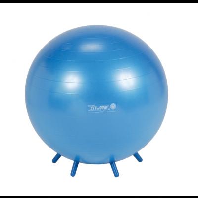 Istumispall Sit n Gym D-65cm Pumbaga, väikeste jalakestega/ sinine, inimese kasvule 150-175cm