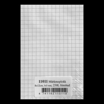 Märkmepaber 8x12cm ruuduline, 250lehte, liimitud