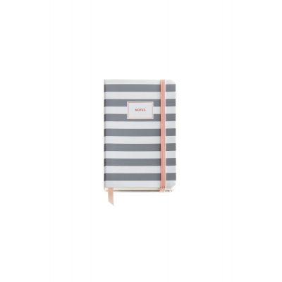 Märkmik 90x140mm 100l. kummikinnitus, järjehoidja, STRIPES ROSE GREY Miquelrius