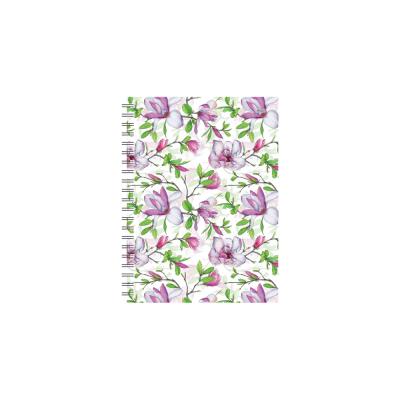 Dateerimata kalendermärkmik 145x190mm, ruut, Magnolia,  spiraalköide,Timer
