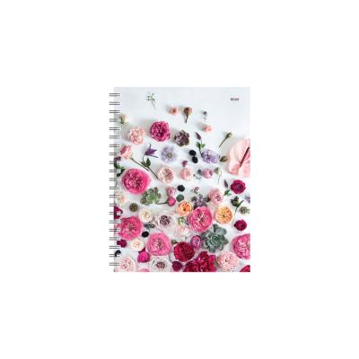 Dateerimata kalendermärkmik 145x190mm, ruut, Lily,  spiraalköide,Timer