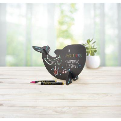 Lauatahvel SECURIT Silhouette 3D Vaal, must, K-22x14,5x10cm + marker / kompl.