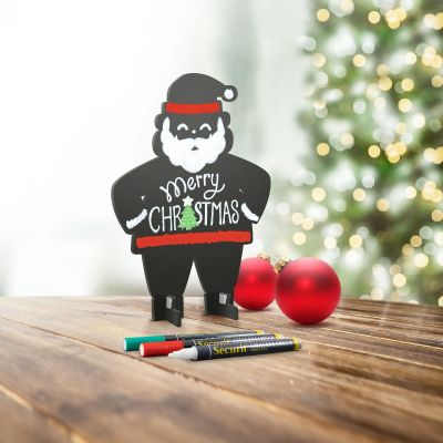 Lauatahvel SECURIT Silhouette 3D Santa, must, K-19x L-14,5cm + marker/ kompl.