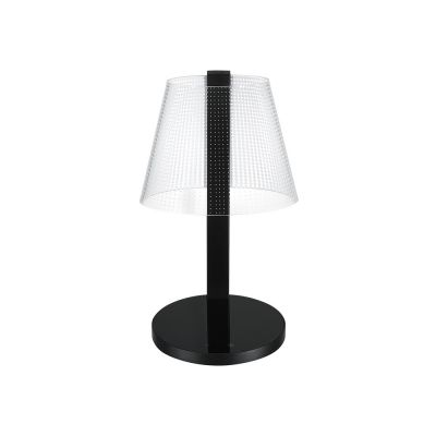 Valgusti ILLUSION Dot LED 7W 430lm,2700-5150K DIM, QI ja USB -port; K-34.2cm/ must