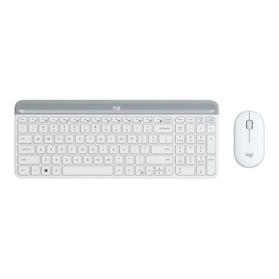 Klaviatur+hiir Logitech MK470 White/valge Slim Wireless Keyboard and Mouse Combo Pan-Nordic