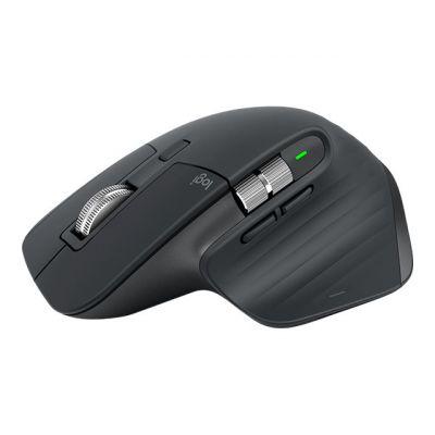 Hiir Logitech MX Master 3 Advanced Wireless Mouse GRAPHITE 2.4GHz/BT laser 7-button USB-C charging 2YW