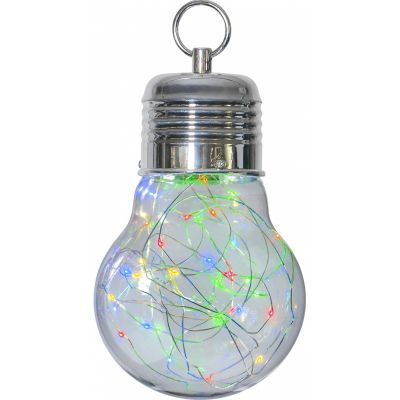 Dekoratsioon BULBY värviline, 15x15x24cm, 30 sooja valget LED tuld,taimer,patareitoide (ei kuulu komplekti),IP20, riput. sisetingimustesse