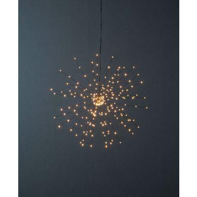 Dekoratsioon ILUTULESTIK rippuv, suur D-50cm, 200 soe valget LED tuld, must kaabel, toitekaabel 5m, 3,2V DC, IP20, sisetingimustesse
