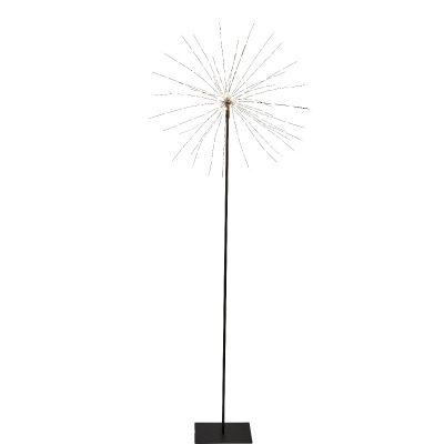 Dekoratsioon ILUTULESTIK kõrgel mustal jalal, D-50x130cm, 200 soe valget LED tuld, toitekaabel 3m, IP20, sisetingimustesse