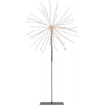 Dekoratsioon ILUTULESTIK mustal jalal, D-26x50cm,120 soe valget LED tuld, toitekaabel 3m, IP20, sisetingimustesse