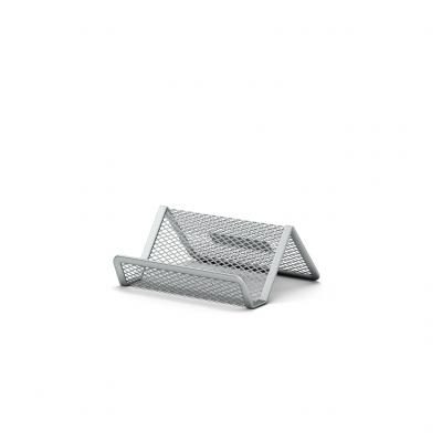 Visiitkaardihoidja lauale 98 x 72 x 45mm  metall võrk hõbe, Erich Krause