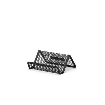 Visiitkaardihoidja lauale 98 x 72 x 45mm  metall võrk must, Erich Krause
