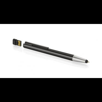 Pastapliiats MEMORIA 8 GB  puutetundliku otsa ja USB mälupulgaga must, musta südamikuga