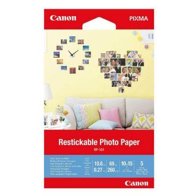 Paber Canon RP-101 10x15cm 5lehte Restickable Photo Paper Matte - korduvkleebitav 260gr/m2