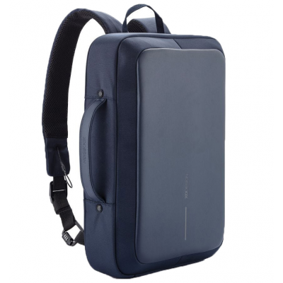 "Sülearvuti seljakott Bobby Bizz Blue/sinine anti-theft backpack & briefcase, USB port, fits 15.6""/10"" tablet"