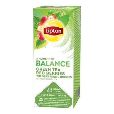 Roheline tee Lipton  punaste marjadega 1,4g*25 tk/pk (fooliumümbrik)