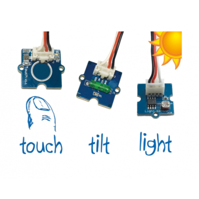 Andurite komplekt Ohbot robotile, kallutus, puudutus, valgus