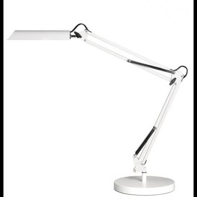 Valgusti UNILUX Swingo valge, integreeritud LED lamp 11W, klamber ja alus
