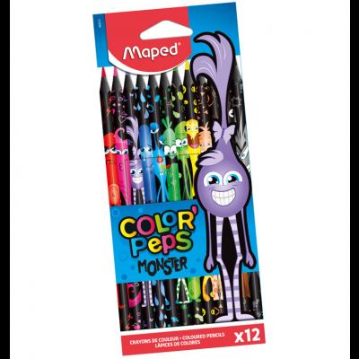 Värvipliiats ColorPeps Monster 12 värvi, Maped