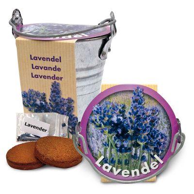 Tsinkämber mulla ja lilleseemnetega (Lavendel) ø100mm Corthogreen