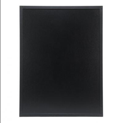 Kriiditahvel must SECURIT Woody, kahepoolne,K-80x60x1cm+marker ja kinnitused/ must raam, kompl.