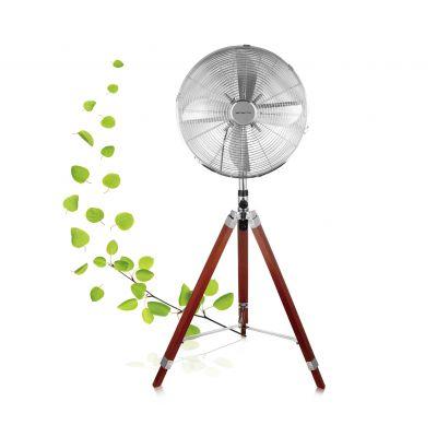Ventilaator põrandale 40cm Emerio kolmjalaga ostsilleeriv, 3 kiirust, H-130cm, kõrgusreguleeritav, 50W