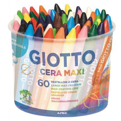 Rasvakriit Giotto Cera Maxi, d 12 mm, pikkus 100 mm, 12 värvi x 5 tk