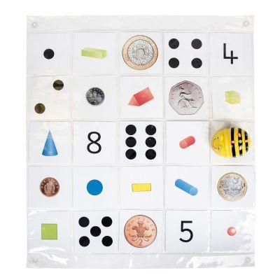 Läbipaistev taskutega matt Bee-Bot ja Blue-Bot robotile, 8 x 8 ruutu