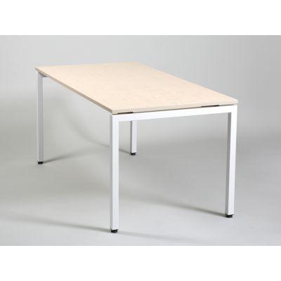 Laud/töölaud XPRS U-jalaraamil 1200x600mm, K-740mm/ valgendatud saar mel. plaat +valge jalaraam