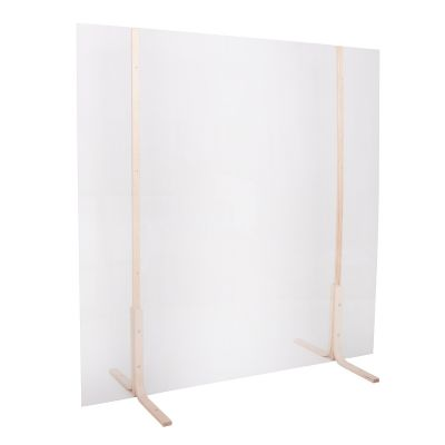 Kaitseklaas / kaitseekraan pleksiklaas 1000x1000mm, puidust hoidja hele (Tarneaeg 1-2 päeva)