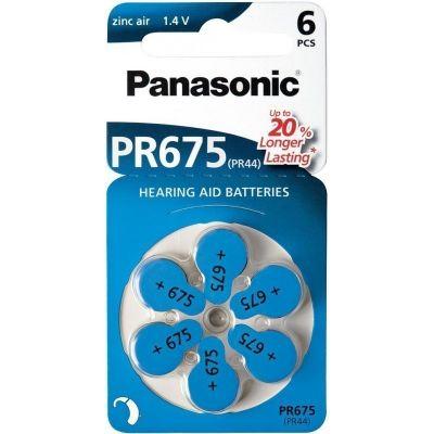 Patareid Panasonic PR675LH/6DC kuuldeaparaadi patareid pakis 6tk, (diam 11,6mm x 5,4mm, 1,4V) PR44/7003ZD/675