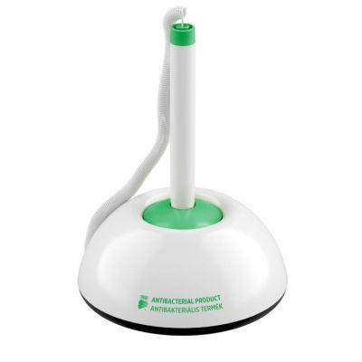 Antibakteriaalne pastapliiats laua külge kinnituva alusega ICO Partner pen valge/roheline sinine südamik.