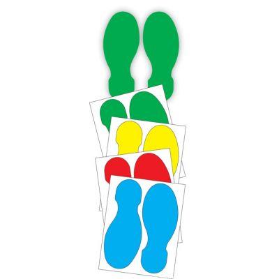 Põrandakleebis Ühekihiliselt paigaldatavad jalajälgede kleebised 25cm paar (lihtne paigaldada, tellides vali värv)