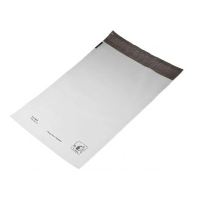 Kilest postiümbrik 24x35+4cm liimiriba, must-valge, 100tk/pk