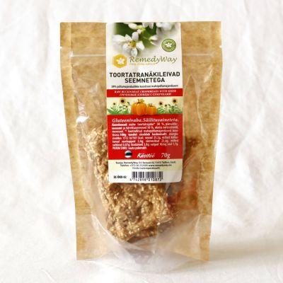 Toortatra näkileivad seemnetega 70g,REMEDYWAY