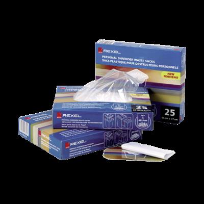 Prügikott paberipurustajale Rexel kuni 115L läbipaistev 100tk/pk ava ümbermõõt 77.5cm sügavus 97.5cm Shredder Waste Sacks Clear