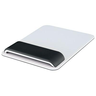 Hiirepadi randmetoega Leitz Ergo WOW Black/must randmetugi ja valge matt Mousepad Wrist Rest Ergonomic, 2 randmekõrgust